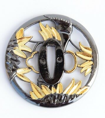 New Zijin Flower sword Tsuba Alloy for Japanese All Kind Of Knife Katana