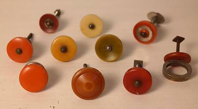 10 assorted art deco bakelite plastic Pull handles knobs (s12359)
