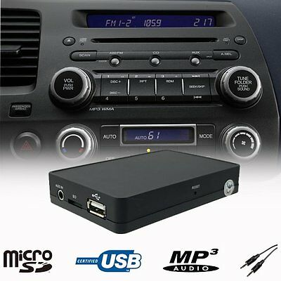 Car Stereo USB SD AUX MP3 Player CD Changer Adapter Honda Civic Jazz 2002 - 2013