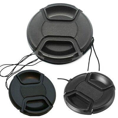 58mm Front Lens Cap Cover Snap-on with Cord Stap For Canon For Sony Nikon Camera