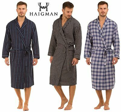 Mens Haigman Brushed 100% Cotton 7395 Dressing Gown Wrap