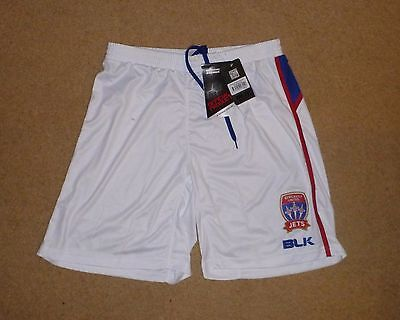 New Tagged XL Mens Newcastle United Jets Home Soccer Shorts Football Shorts BLK