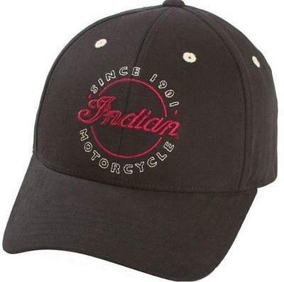 Indian Motorcycle Original Hat Black mens gift accessory script logo circle 1901