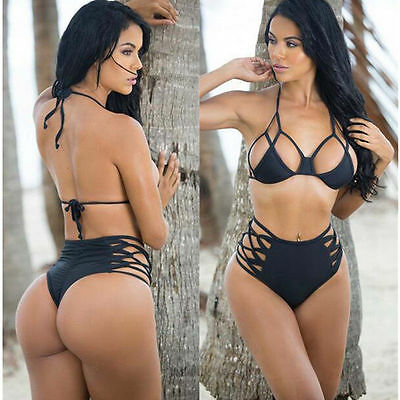 Bra Bikini Set Swimsuit Swimwear Up Padded Beachwear Push Bandage