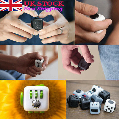 Fidget Cube Toy Stress Relief Focus For Adults Children 6+ ADHD AUTISM XMAS Gift