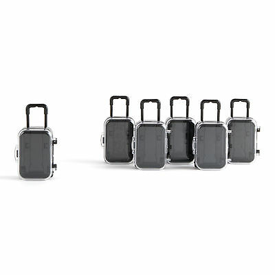 Mini Modern Trolley Suitcase Favour Box Pack of 6