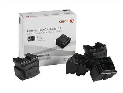 Genuine Xerox Solid Ink, Black, ColorQube 85X0 (4 sticks/8600 pages) 108R00935