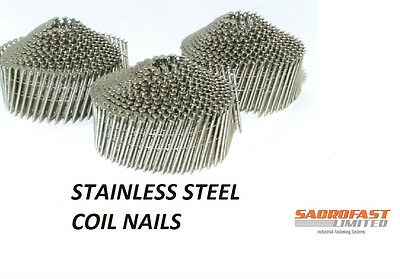Stainless Steel 2.1/32Mm Conical Wire Collated Coil Nails - 3 Coils