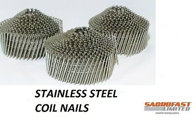 Stainless Steel 2.1/50Mm Conical Wire Collated Coil Nail 1200 Nails