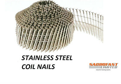 Stainless Steel 2.1/45Mm Conical Wire Collated Coil Nail 400 Nails