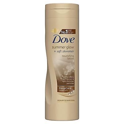 Dove Summer Glow and Soft Shimmer Nourishing Body Lotion 250ml 1 2 3 6 Packs