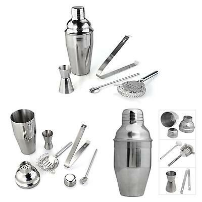 Lot 5 PCS Stainless Steel Cocktail Shaker Jigger Mixer Bar Drink Sets
