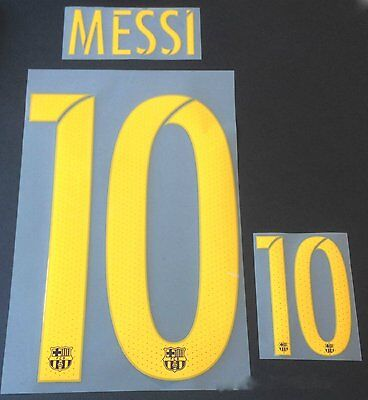 MESSI 10 Barca 2015-2016-2017 Home Football Shirt Print Name Set Number Transfer