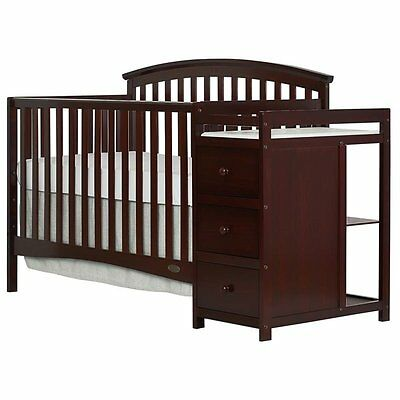 Dream On Me Niko 5-in-1 Convertible Crib with Changer in Espresso