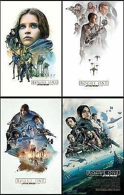 4pc Rogue One: A Star Wars Story Promo Card PVC CHARACTOR CARD Collector B02