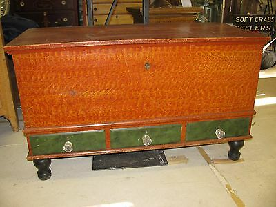 Antique Paint Decorated Blanket Chest Lancaster Pennsylvania Shipping Available