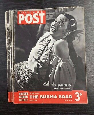 Picture Post Magazines - 10 Issues starting August 3rd 1940