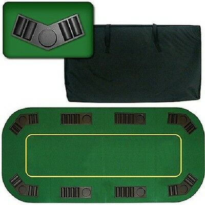 """Trademark Poker Deluxe 80"""" Poker Table Top Texas Hold'em Foldable Portable Wood"""