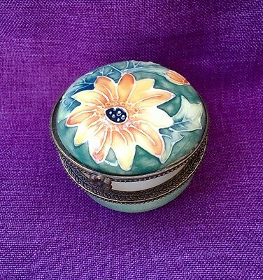 Old Tupton Ware Trinket Box with Yellow Flower