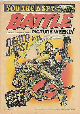 Battle Picture Weekly 6th Sept 1975 (high grade) Rat Pack, D-Day Dawson