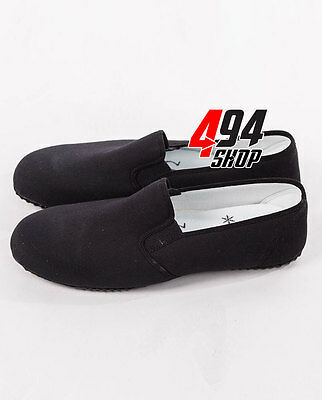 Kung Fu Shoes Wushu Martial Arts Canvas Black Shoes & Black Sole