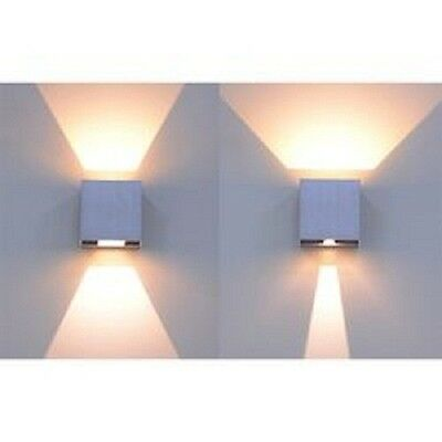 Applique led per esterni faretto doppia luce 10w lampada for Applique da interno