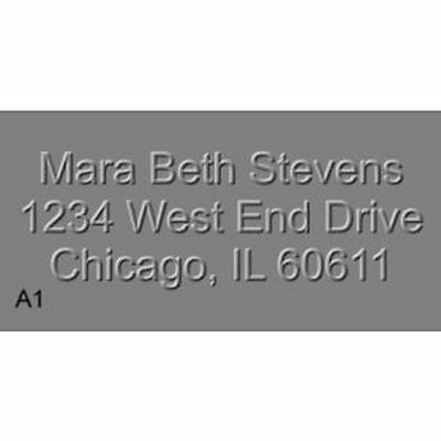 Custom SHINY Return Address Rectangular Embosser
