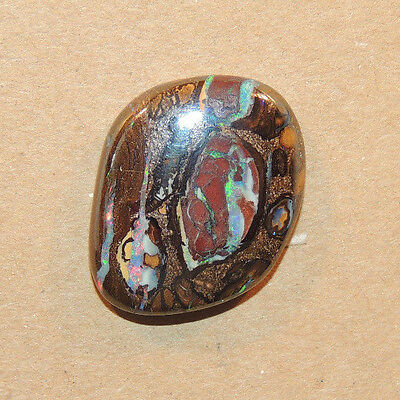 Boulder Opal Cabochon 20x18mm with 4mm dome from Australia 16.64cts (eb191)