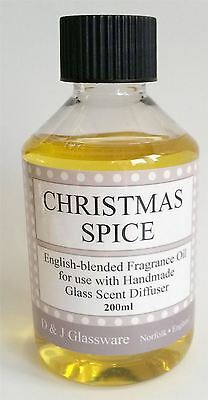 D & J Glassware Reed Diffuser Refill Oil Christmas Spice