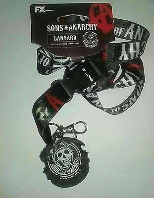 """AUTHENTIC SONS OF ANARCHY Lanyard only with Charm HTF NEW 23"""" No I'd Holder NEW"""