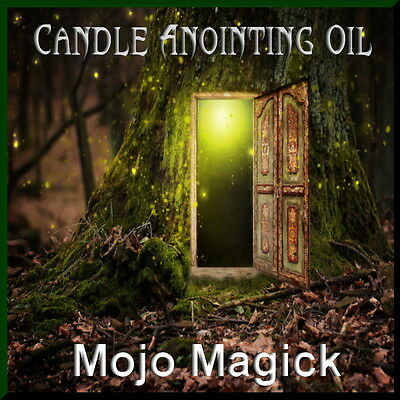 Mojo Magick Candle Anointing Essential Oil Hoodoo Wicca - Bless Candles 2Enhance