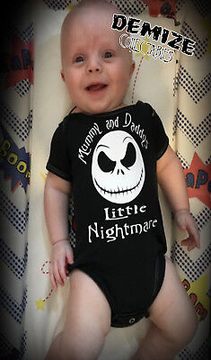 The Nightmare Before Christmas MUMMY AND DADDYS LITTLE NIGHTMARE Baby Grow Vest