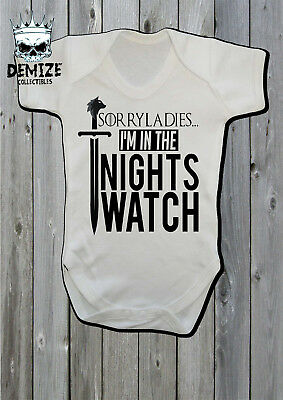 Game of Thrones Baby Grow Body Suit Vest (Sorry Laides Im In The Nights Watch)