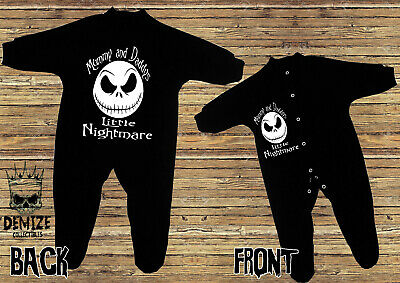 THE NIGHTMARE BEFORE CHRISTMAS (MUMMY AND DADDYS LITTLE) Bodysuit Sleep Suit