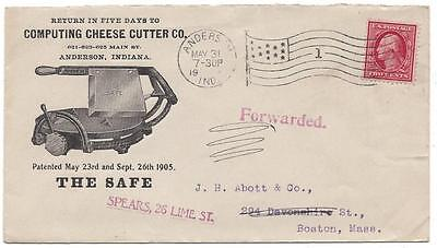 Illustrated Advertising Cover - Computing Cheese Cutter Co., Anderson, IN