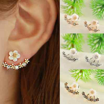 Crystal Rhinestone  Ear Stud Daisy Flower Earrings Fashion Jewellery Gift Ladies