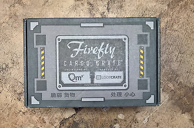 New Sealed Loot Crate QMX Firefly Cargo Crate #5 Serenity December 2016 Crate