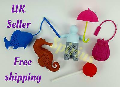 Mr Tea Infuser Silicone Loose Tea Leaves Herbal Strainer filter Funky Choices UK
