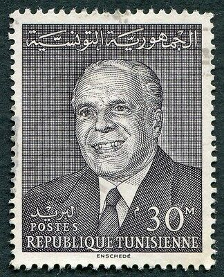 TUNISIA 1964 30m brown SG599 used NG National Day President Bourguiba #W2