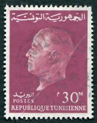 TUNISIA 1962 30m red SG577 used NG President Bourguiba #W2
