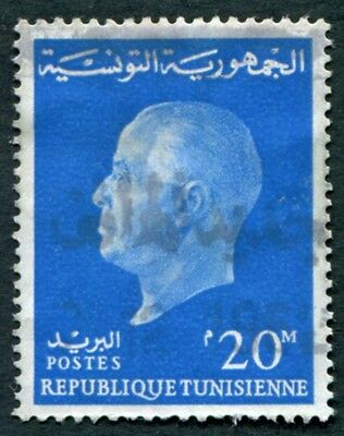 TUNISIA 1962 20m blue SG576 used NG President Bourguiba #W2