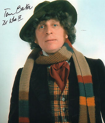 Authentic Tom Baker Signed Doctor Who 4Th 10 X 8 Dr Who..real Signature...coa...