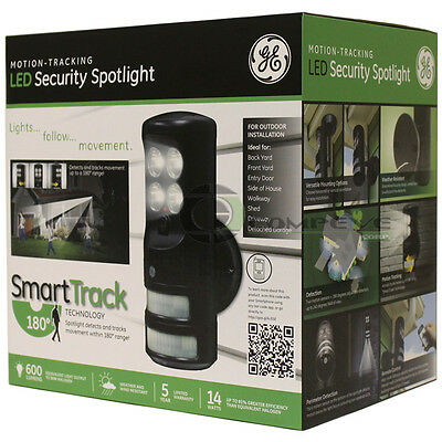 GE LED Motion Tracking Control Security Light Flashing Monitor Outdoor Areas