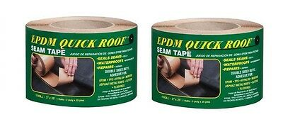 """(2) Quick Roof BST325 Epdm Roof Seam Tape 3"""" x 25' ~ New ~ Free Shipping"""