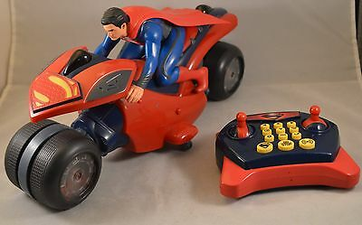 Thinkway Toys U-Command Kryptonian Cycle with Remote Control RARE VIDEO IN DESC
