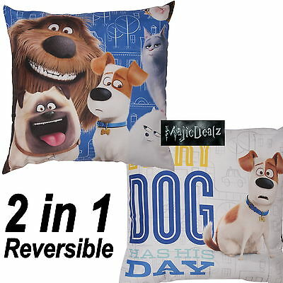 Secret Life Of Pets Animals Comfy Cushion Boys Girls Kids Blue Pillow