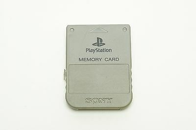 Playstation 1 PS1 Official Memory Card Gray Sony SCPH-1020 Japan Version USED
