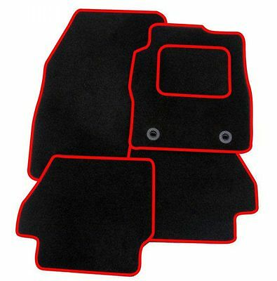 Ford Mondeo Mk4 2007-2012 TAILORED CAR FLOOR MATS- BLACK WITH RED TRIM