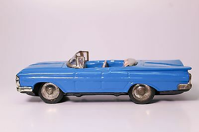 Vintage Japanese Tin Litho Friction 1959 Chevy Convertible