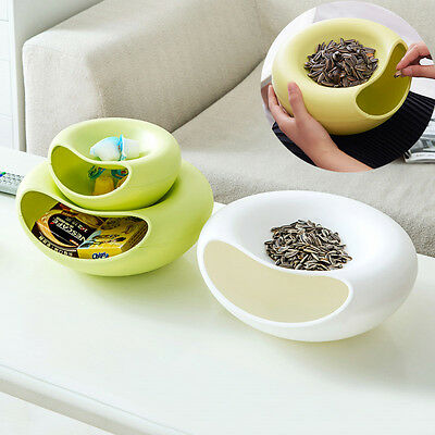 Creative Lazy Fruit Plate Double Layer Candy Snack Peel Seeds Dish Storage Tray